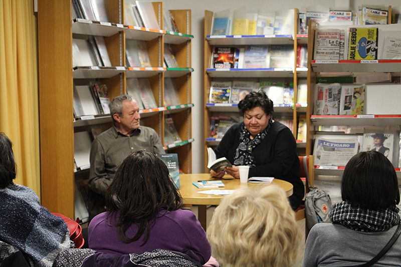 Dominique Lin à la bibliothèque de Salon de Provence