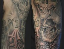 skulls-clock-tattoo