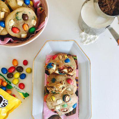 [ Cookie Recipe n° 8 ] : Mes Cookies Trop Mignons au Sucre Muscovado, M&M'S et Chocolat Blanc ! ^-^