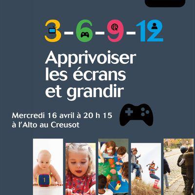 """Serge Tisseron """"Apprivoiser les écrans 3-6-9-12"""" au Creusot"""