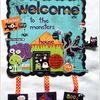 """The monsters house"" Déco Halloween"