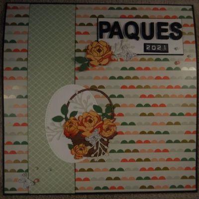 """Scrapbooking: """"Pâques 2021"""" (2021-12)."""