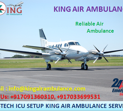 King Air Ambulance Service in Least Price is Available from Varanasi to Mumbai