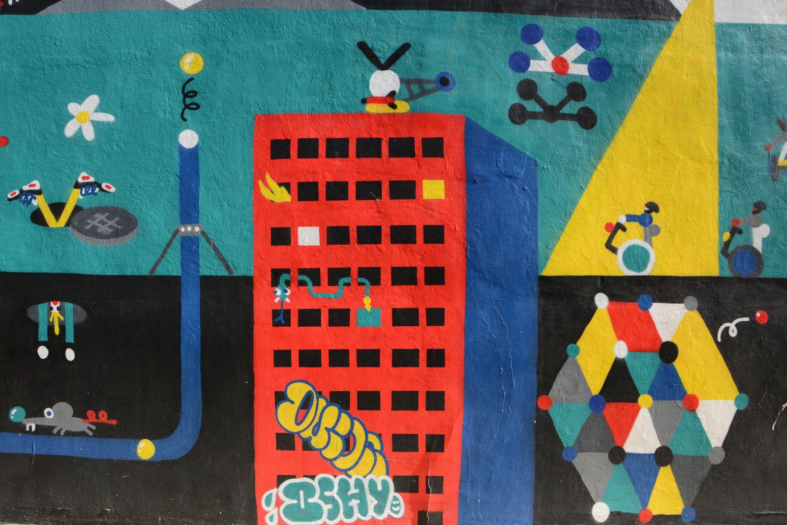 Œuvres de 2SHY & Paul Loubert (rue Carles à Béziers centre)