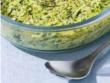 Flan de courgettes aux herbes