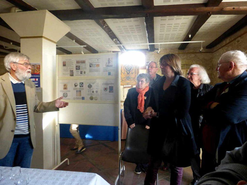 """Vernissage de l'exposition """"Le monde du compas"""" au caveau des Récollets à Château-du-Loir"""