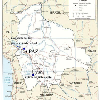 Itinéraire de la Bolivie...