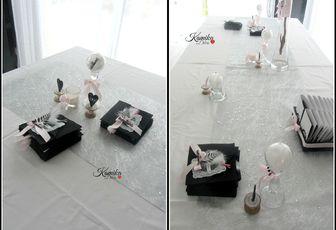 table de mariage noir et blanc # 43
