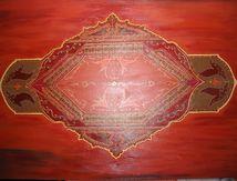 Peinture acrylique, Inde, 130x97 cm