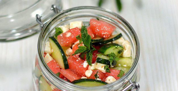 Salade Pastèque - Concombre - Féta