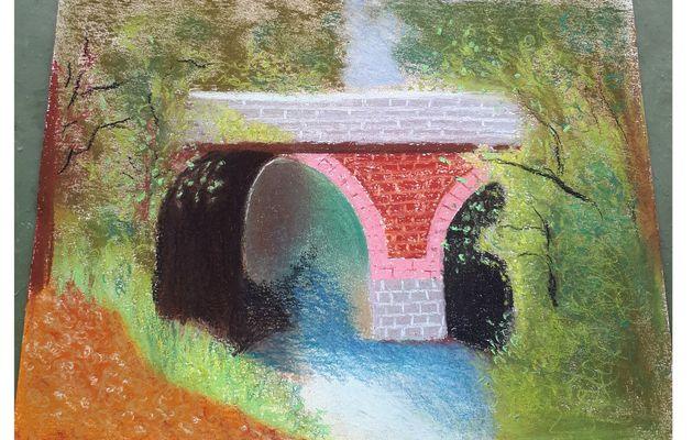 Cours de pastel au pont de Foucherolles le 26 juin