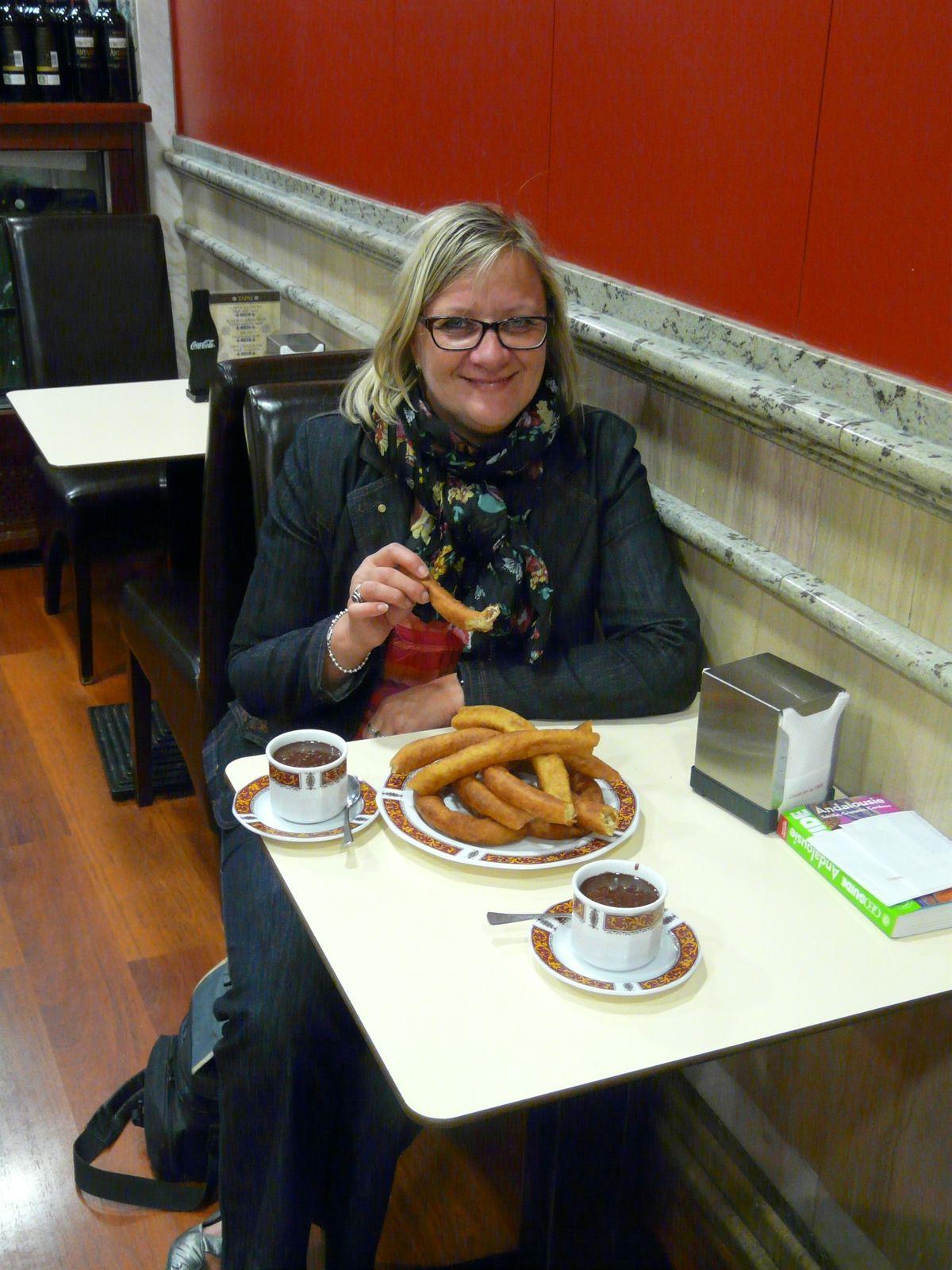 Churros sauce au chocolat - balade à Cordou