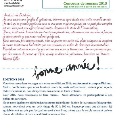 Concours écriture 2015 - Editions Bordulot