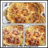 Tarte aux courgettes et à la pancetta - La cuisine de poupoule