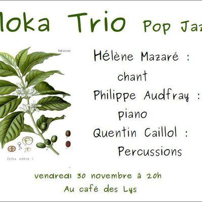 Soirée concert au Café des Lys : le Moka Trio.