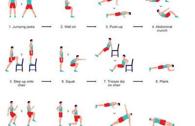 7 minutes de PPG active en 12 exercices.
