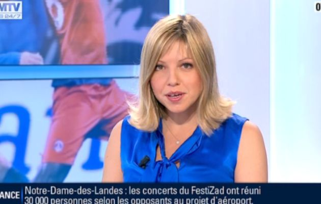 2013 01 07 - CAROLE COATSALIOU - BFM TV - PREMIERE EDITION 'SPORTS' @07H15