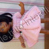tuto gratuit poupée : robe tourbillon à la tresse - Chez Laramicelle