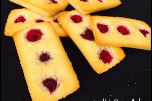 Financier à la framboise
