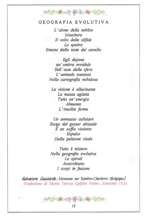 """Salvatore Gucciardo figure dans la Revue Littéraire et Artistique Italienne """"PARTHENOPE"""" qui vient de paraître en Italie..."""