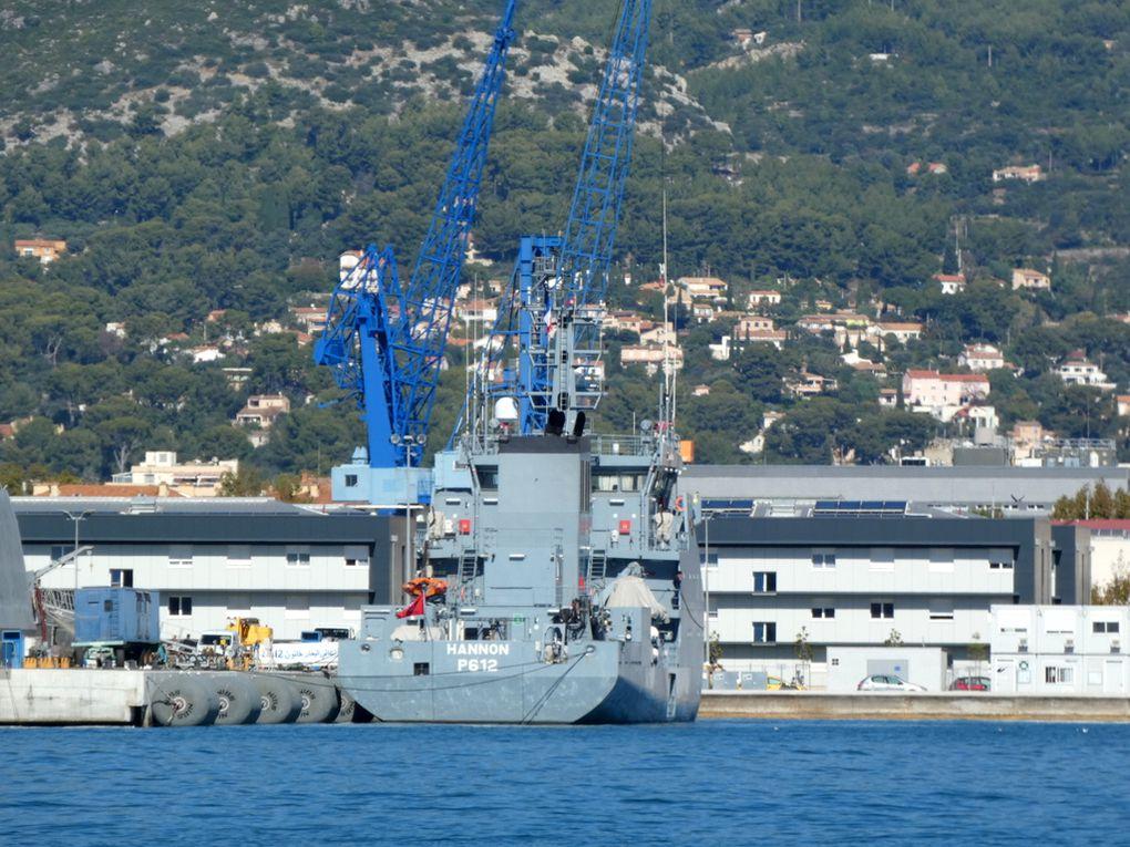 HANNON  , P612 , patrouilleur de la marine Tunisienne  à quai dans la base navale de Toulon le 12 octobre 2020