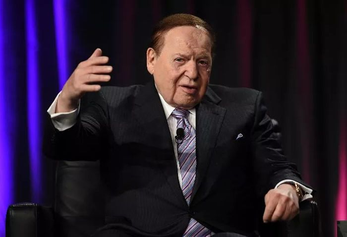 Ethan Miller (Getty/AFP/Archives)Le multimilliardaire Sheldon Adelson, qui s'est mobilisé en faveur de Benyamin Netanyahou pour les élections israéliennes, le 1er octobre 2014 à Las Vegas.