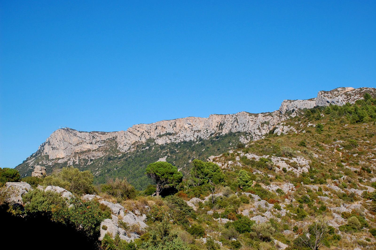 Le paysage avec les falaises