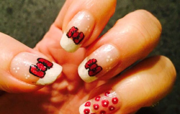 #nailart noeuds en fête #nails #nail #nailartclub #nailmodele #naildesign