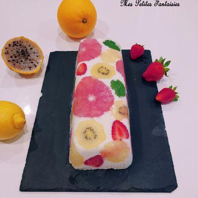 Cake glacé aux fruits
