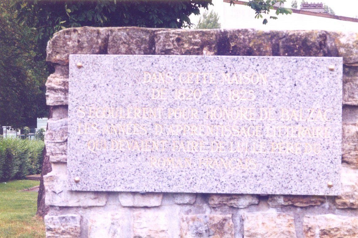 plaque Balzac