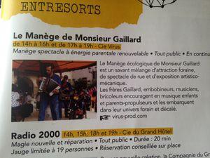 #manegegaillard #theatrederue #aurillac  #charlotteblabla blog