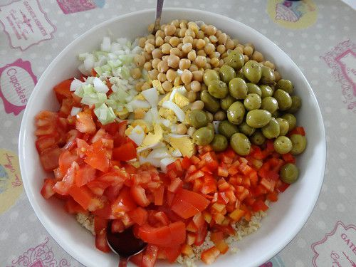 Salade de boulgour et pois chiche