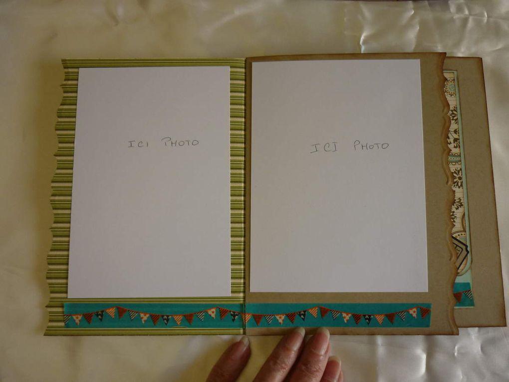 Un mini album avec le forum Scrap en papier