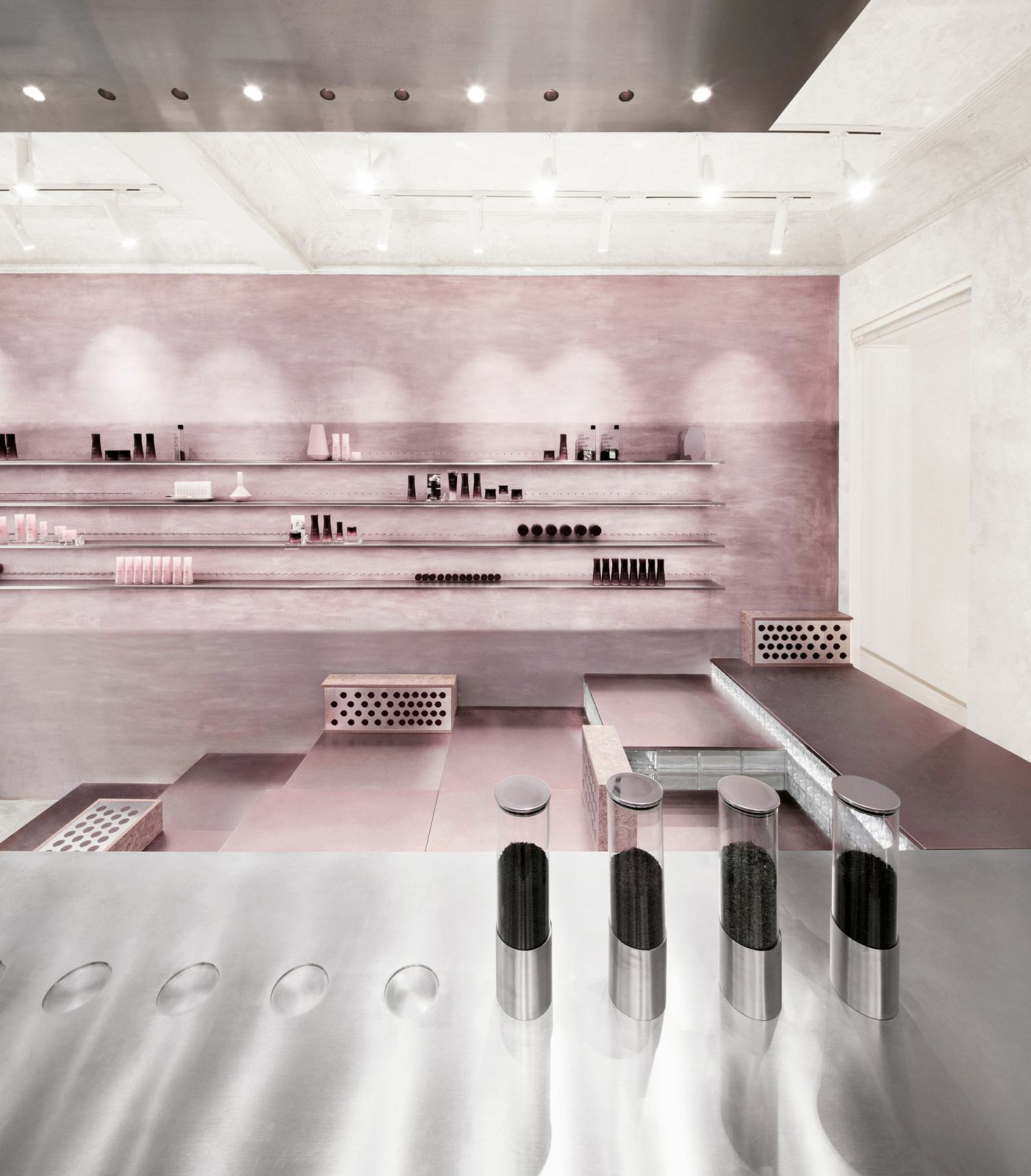 COSMETEA STORE, A TEA COSMETICS HOUSE FLOATING IN THE MOUTAINS, DESIGNED BY NAX ARCHITECTS