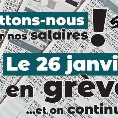 Battons-nous pour nos salaires! En grève le 26 janvier!