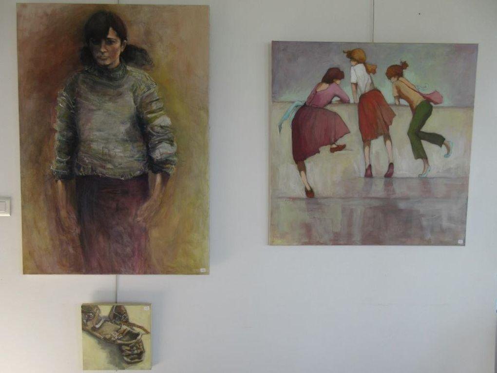 Acryliques de Chantal Bineau et Gravures de Serge Marzin