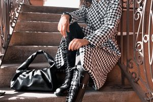The houndstooth coat trend