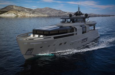 The new Arcadia A105 world debut at Cannes Yachting Festival 2018