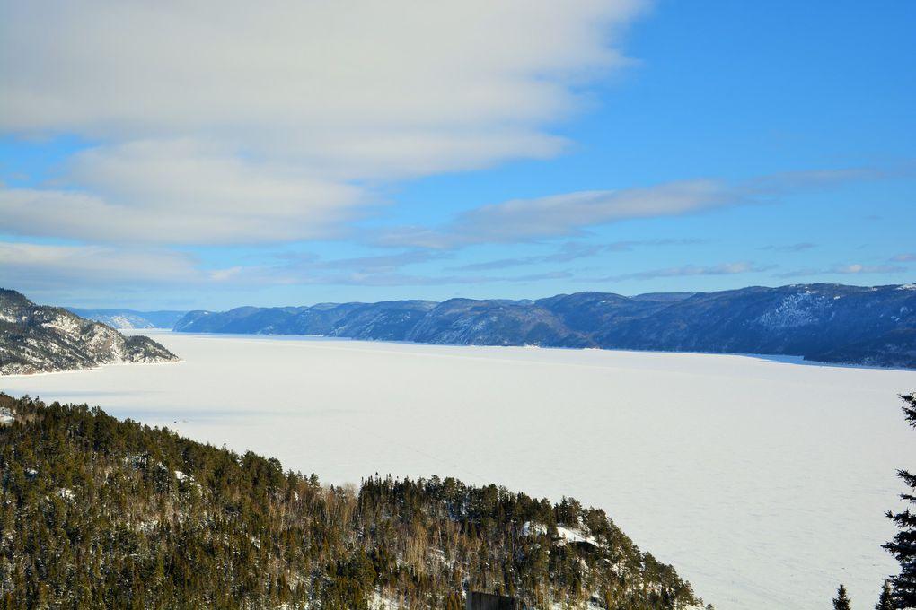 Le fjord de Saguenay.