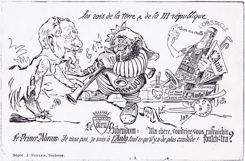 Rappel de la carte postale, 1907.