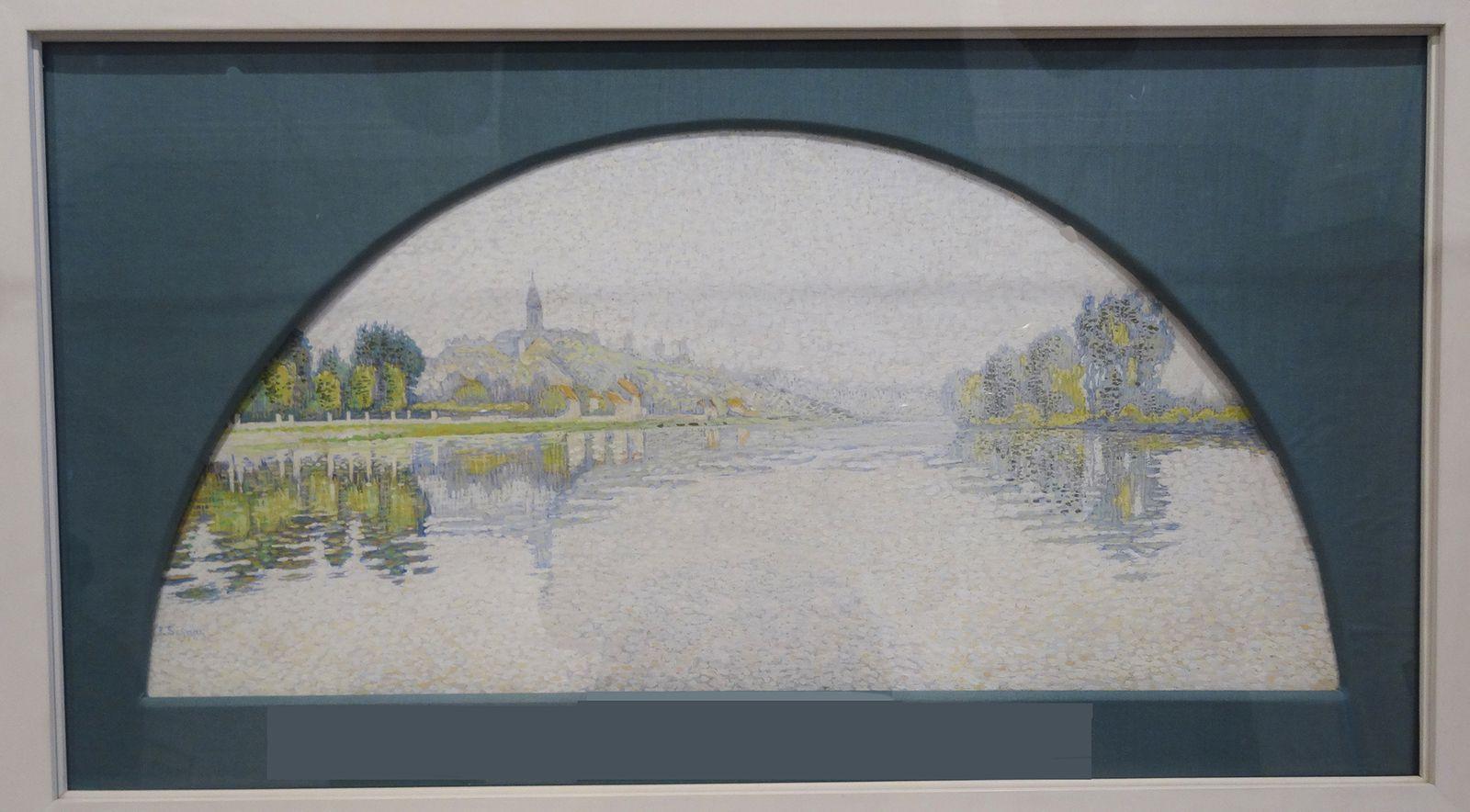 Paul Signac - La Seine à Herblay - huile sur soie 1888/1889