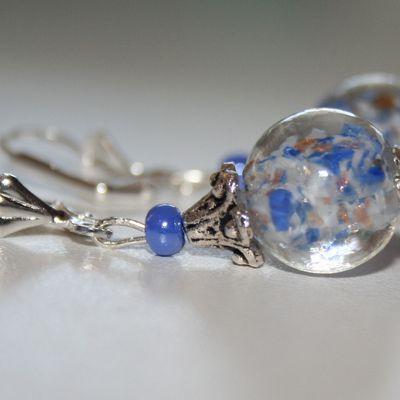 Boucles perles en verre