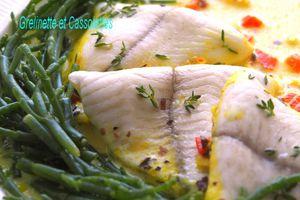 Filets de Limande au Curcuma, Condiment de Salicorne