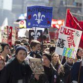 Montréal : des milliers de personnes manifestent contre l'austérité - Ça n'empêche pas Nicolas