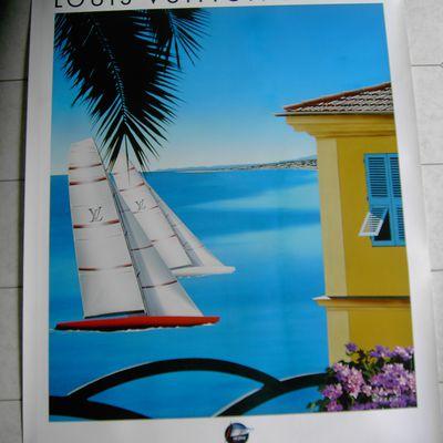 """Affiche """" TROPHY LOUIS VUITTON"""" 2009 à Nice"""