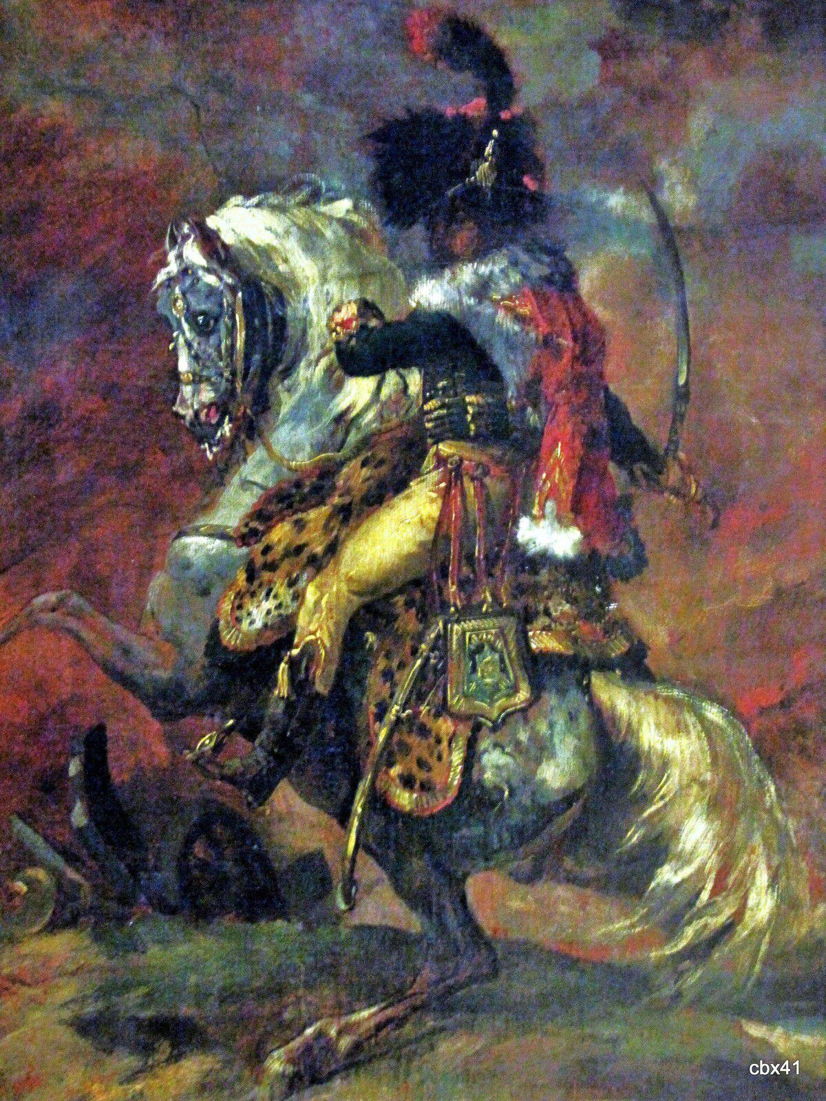 Théodore Géricault, Officier de chasseurs à cheval de la Garde impériale chargeant