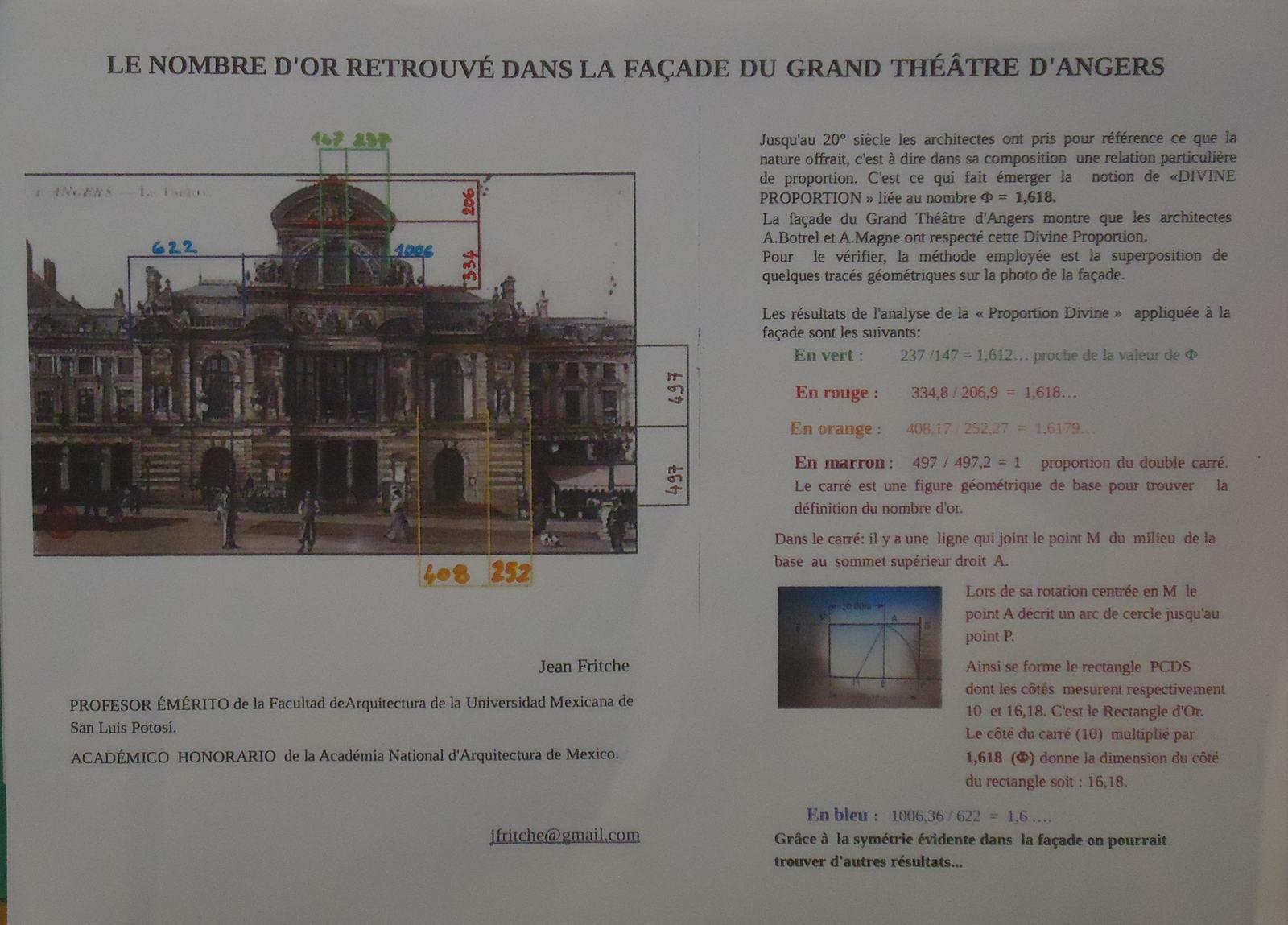 Théâtre d'Angers et le Nombre d'or