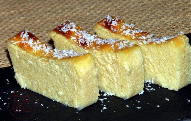 Gâteau de semoule aux citrons verts , au rhum et noix de coco