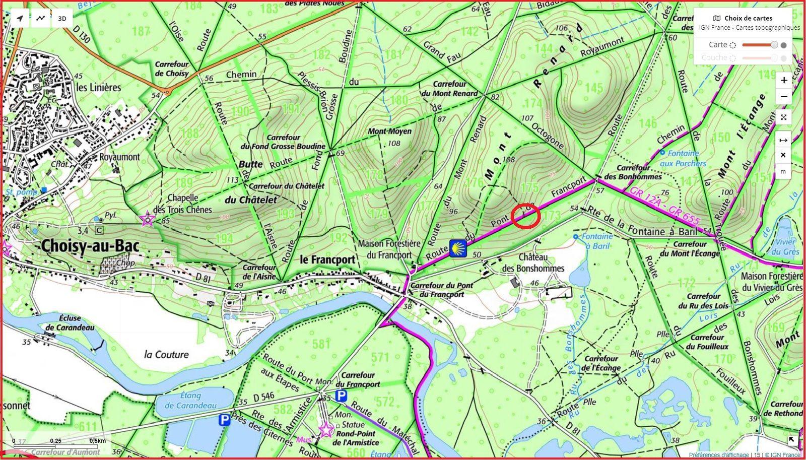 carrefour_Route du Pont du Francport_Sentier(parcelle 175)