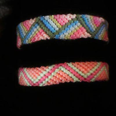 bracelet brésilien motif zig zag